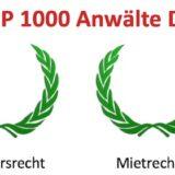 FOCUS TOP 1000 Anwälte - 4 Auszeichnungen für KGH