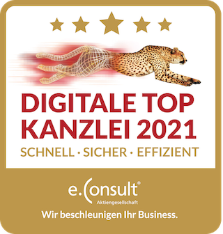 Auszeichnung zur digitalen Top Kanzlei